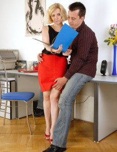 51 Year Old  Blond Haired  Cougar Hillary Takes Some Serious Hard Cock in Here